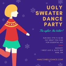 ugly sweater dance party
