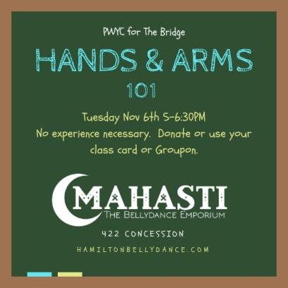 bridge hands arms