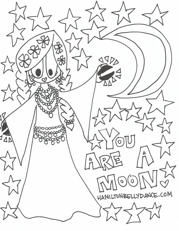 mahasti bellydance colouring sheet